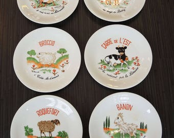 Vintage porcelain cheese plates
