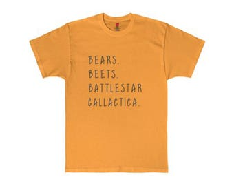 The Office Quote Shirt - Bears Beets Battlestar Galactica - Dwight Schrute Quote - Michael Scott - Jim Halpert - The Office Quotes T-shirt