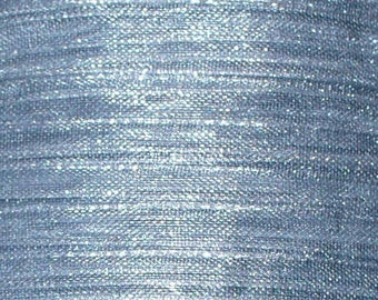1 meter wide grey 8mm organza Ribbon