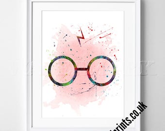 Harry Potter Watercolour Poster Print - Watercolor - Print - Kids Decor - Nursery Art - Gift idea - Watercolour Print