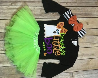 Daddy's Little Boo Baby Halloween Outfit
