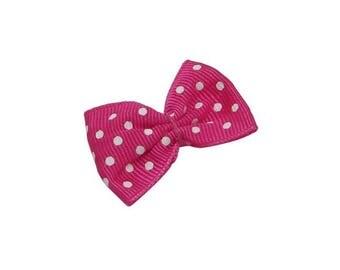 ♥ 1 PCs bow has polka dots pink vest 35mm ♥