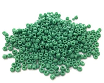 ♥ 10gr 2mm♥ green glass seed beads