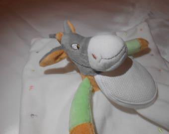 Plush donkey with bib brodable dmc