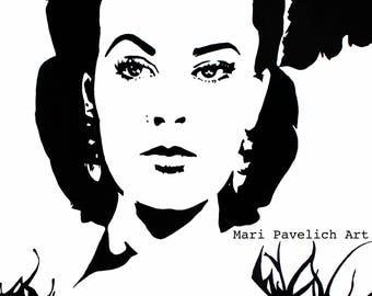 4x6 Scarlett O'Hara Art Print