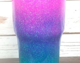 Pink Purple Aqua Yeti Tumbler | Ombre Glitter  | Glitter dipped Yeti | Yeti Tumbler | Glitter Tumbler | 20 30 40 oz Tumbler | Custom Tumbler