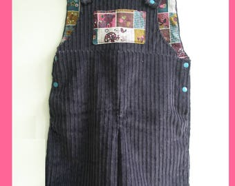 girl shorts jumpsuit (5 / 6) purple corduroy