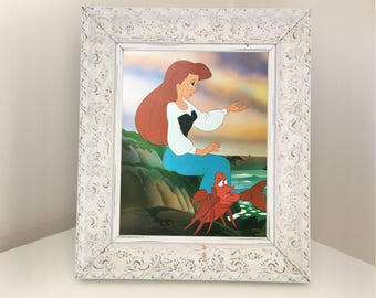 The Little Mermaid Disney book illustration from the 1989 animated movie. Great for themed bedroom, playroom or nursery. A4 Set of Prints