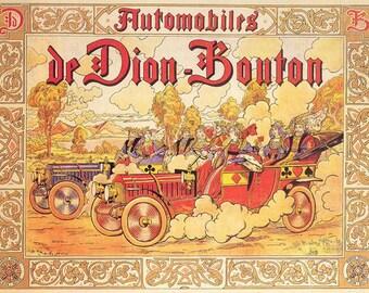 SET of VINTAGE TABLE - Poster - automotive pioneer.