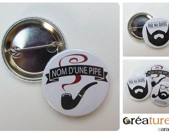 Badge 38 mm * name pipe *.