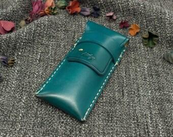 Leather Pencase HandMade,HandPainted,HandStitch-Model#3504