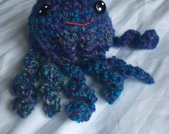Knitted Jellyfish Purple and Blue