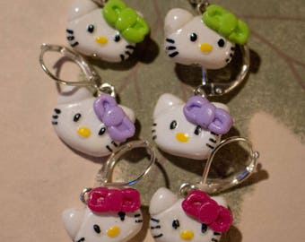 Hello Kitty earrings in polymer clay