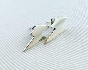 Lightning earrings in Silver 925