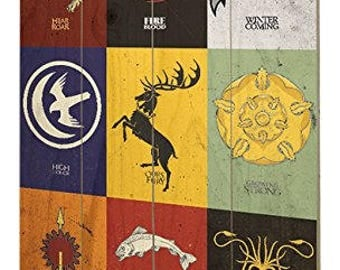 Game of Thrones Wood Wooden Wall Art - Sigils