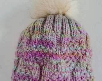 A winter hat with Pompom