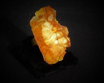 Ohlesfees ring - Fantasy Crystal amber