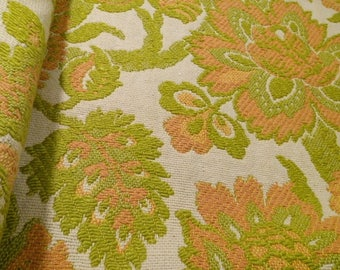 Mid Century Jacobean Jacquard Fabric Cotton Cloth Decorator Crafting Material