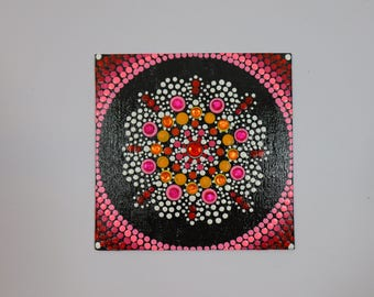 Pink and Red Mandala