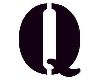 Fusible pattern stencil - Q letter