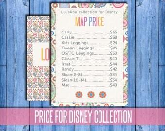 Price List Poster for Disney Collection, Custom Seller Poster, Skirts Dresses Shirts and Leggings Price List Sign, PRINTABLE Digital File