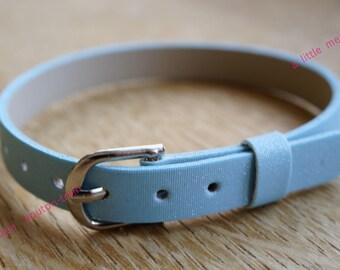 glittery edging sky blue vegan leather bracelet