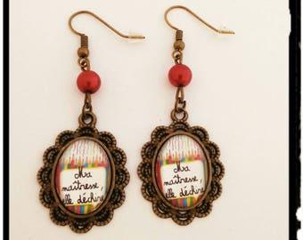 Earrings end of year gift for teacher.