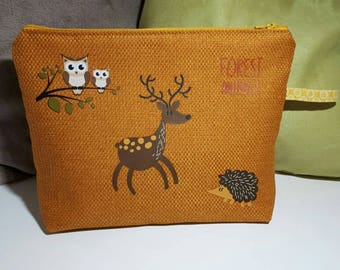 Large /forest animals forest animals pocket / yellow to offer or indulge.