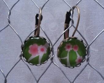 Stud Earrings, floral
