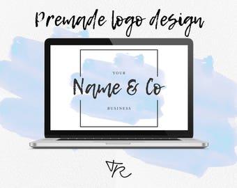 """Logo pré-fait à petit prix - """"Mon petit logo"""" - Thème Watercolor"""