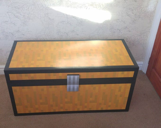 Minecraft Style double Chest Ideal Kids Childrens Toy Box Storage 100x50x50cm