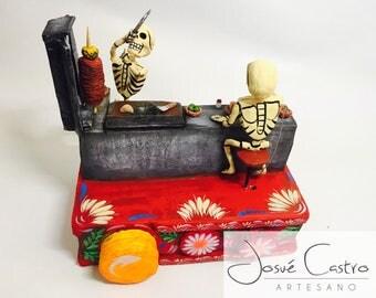 "Art mexican calavera ""tacos"""