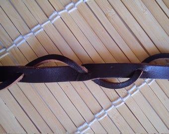 "Bracelet ""hartonda brown leather"""