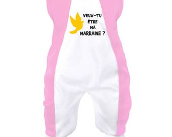 Baby onesie: will you be my godmother?