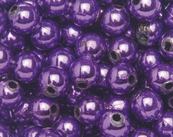 10 6mm - purple plastic beads
