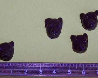 brown bear fimo or polymer clay