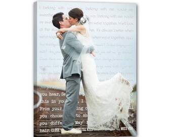 Wedding Photo Canvas Prints. Perfect Anniversary Gift for Husband, Wife. Ready to Hang!