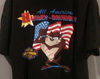 1993 Taz Harley Davidson shirt