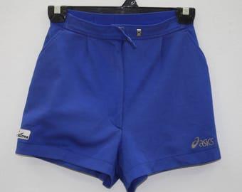 Vintage Asics Blue High Waisted Sport Shorts