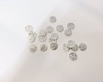 sequins 20 8mm silver glitter double-sided for creations of jewels