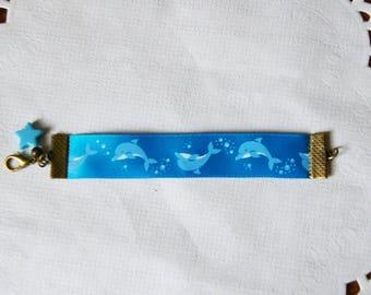 Bracelet kids Dolphin Blue Ribbon