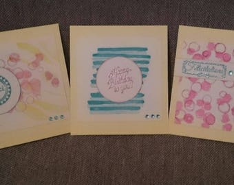 set of 3 cards for various occasions