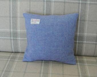 Harris Tweed mauve herring bone cushion