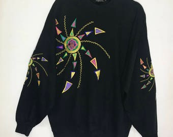Rare!!! Majestic Pullover Spellout Big Logo Embroidered Multicolors
