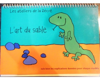 """""""Sand Art"""" spiral notebook-Junior 14 paintings with colored sand"""