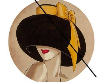 30mm woman yellow hat and bow