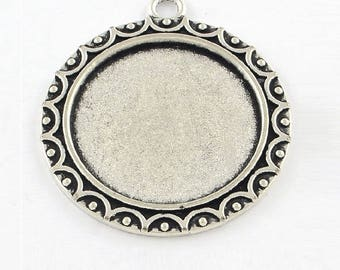 15 cabochons 25mm, vintage pendants