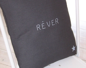 Dark grey Cushion cover