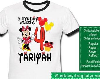 Minnie Mouse Birthday Shirt/Minnie Mouse Shirt/Minnie Mouse Party/Minnie Mouse/Minnie Mouse Birthday/Minnie Mouse Stickers/Minnie Mouse tutu