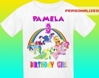 Personalize My Little Pony Iron On Transfer, Little Pony Birthday Shirt Iron On Transfer, My Little Pony Transfer, Digital File Only